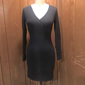 American Apparel Black Body-con jersey dress